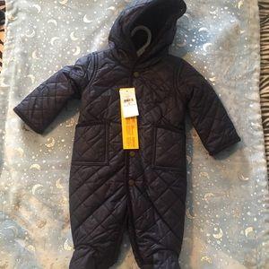 Ralph Lauren Navy Blue Baby Snowsuit